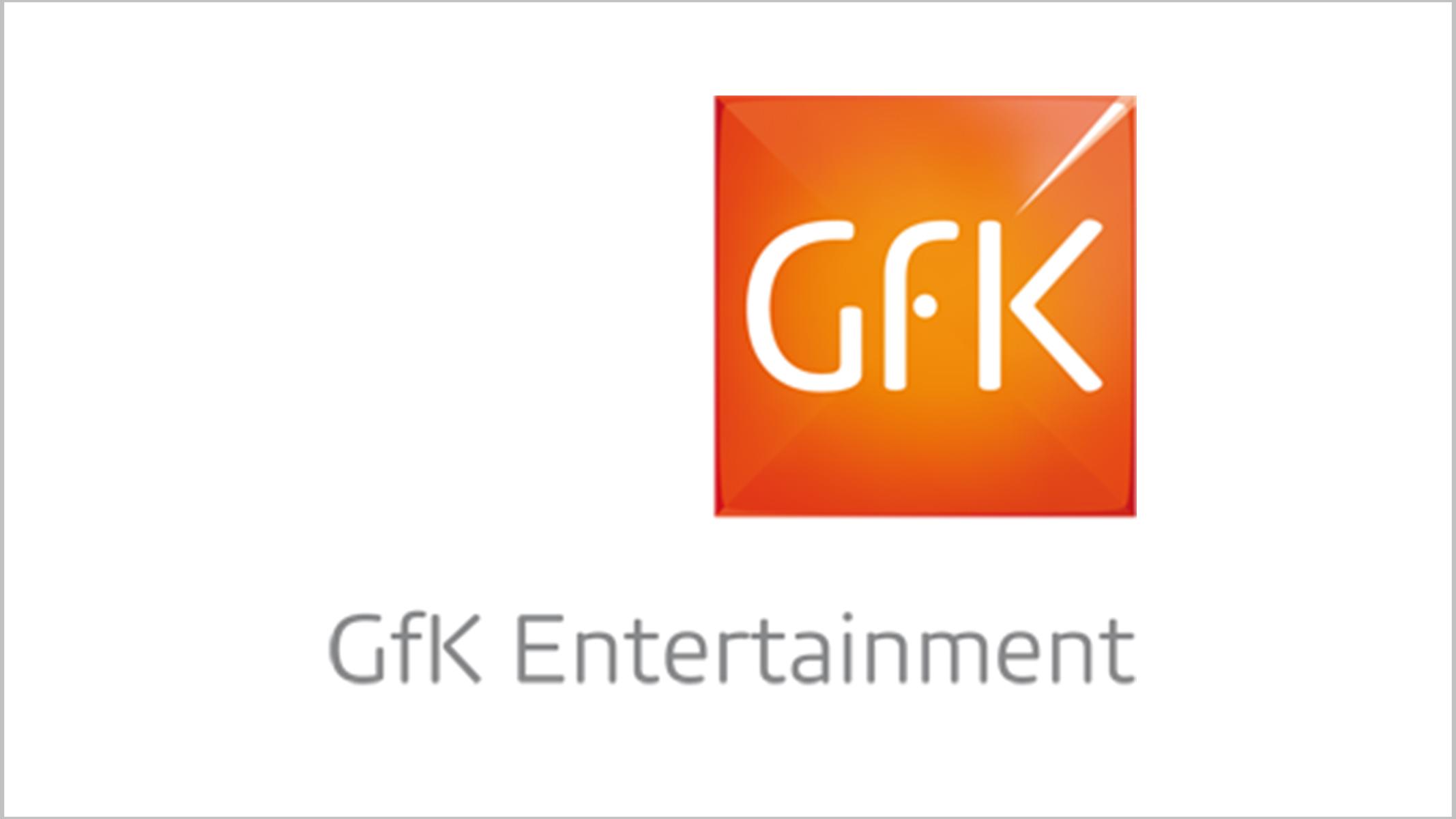 Das Logo der GfK Entertainment GmbH, die seit 2014 unter diesem Namen operiert.